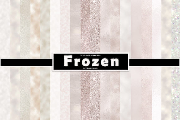 Print on Demand: Frozen Digital Paper Graphic Backgrounds By The Rose Mind
