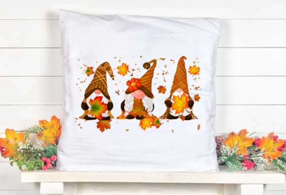 Gnomes Thanksgiving Sublimation Design Graphic Item