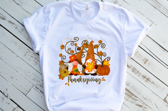 Gnomes Thanksgiving Pumpkins Sublimation Graphic Download