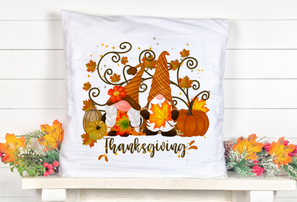 Gnomes Thanksgiving Pumpkins Sublimation Graphic Item