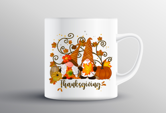 Gnomes Thanksgiving Pumpkins Sublimation Graphic Design
