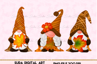 Print on Demand: Gnomes Thankful Design Sublimation Gráfico Ilustraciones Por Suda Digital Art