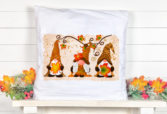 Gnomes Thankful Maple Sublimation Graphic Download