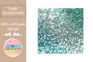 Gorgeous Green Gradient Chunky Glitter Graphic Backgrounds By AM Digital Designs
