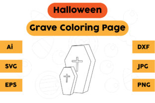 Halloween Coloring Page - Grave 01 Graphic Coloring Pages & Books Kids By isalsemarang
