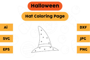 Halloween Coloring Page - Hat 06 Graphic Coloring Pages & Books Kids By isalsemarang