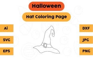 Halloween Coloring Page - Hat 10 Graphic Coloring Pages & Books Kids By isalsemarang