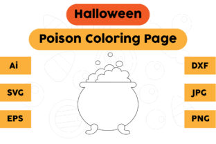 Halloween Coloring Page - Poison 01 Graphic Coloring Pages & Books Kids By isalsemarang