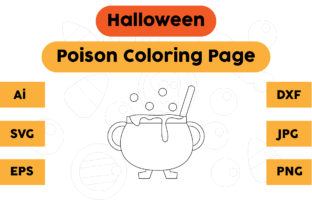 Halloween Coloring Page - Poison 02 Graphic Coloring Pages & Books Kids By isalsemarang