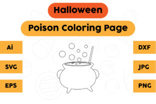 Halloween Coloring Page - Poison 03 Graphic Coloring Pages & Books Kids By isalsemarang