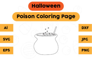 Halloween Coloring Page - Poison 04 Graphic Coloring Pages & Books Kids By isalsemarang