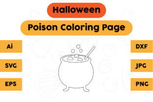 Halloween Coloring Page - Poison 05 Graphic Coloring Pages & Books Kids By isalsemarang