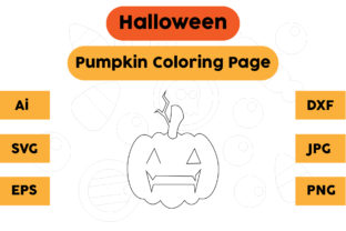 Halloween Coloring Page - Pumpkin 02 Graphic Coloring Pages & Books Kids By isalsemarang