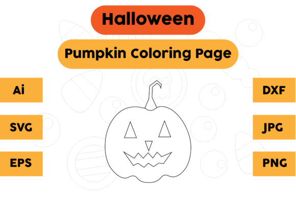 Halloween Coloring Page - Pumpkin 03 Graphic Coloring Pages & Books Kids By isalsemarang