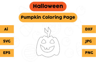 Halloween Coloring Page - Pumpkin 04 Graphic Coloring Pages & Books Kids By isalsemarang