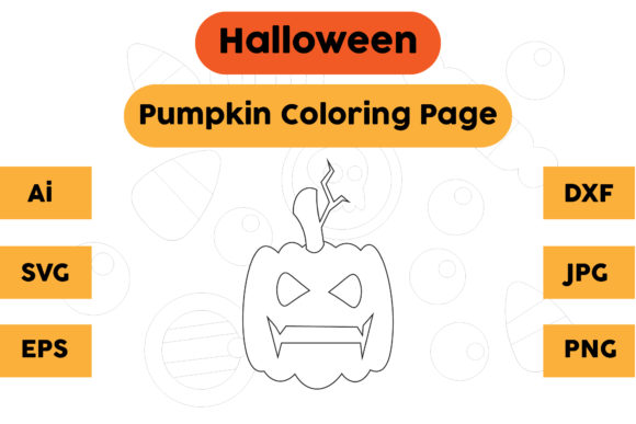 Halloween Coloring Page - Pumpkin 05 Graphic Coloring Pages & Books Kids By isalsemarang