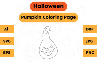 Halloween Coloring Page - Pumpkin 06 Graphic Coloring Pages & Books Kids By isalsemarang