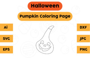 Halloween Coloring Page - Pumpkin 07 Graphic Coloring Pages & Books Kids By isalsemarang
