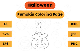 Halloween Coloring Page - Pumpkin 08 Graphic Coloring Pages & Books Kids By isalsemarang