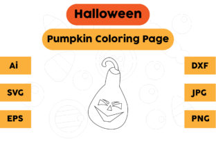 Halloween Coloring Page - Pumpkin 09 Graphic Coloring Pages & Books Kids By isalsemarang