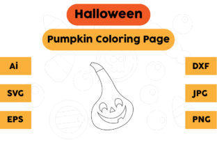 Halloween Coloring Page - Pumpkin 10 Graphic Coloring Pages & Books Kids By isalsemarang