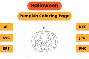 Halloween Coloring Page - Pumpkin 12 Graphic Coloring Pages & Books Kids By isalsemarang