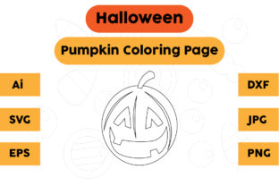 Halloween Coloring Page - Pumpkin 13 Graphic Coloring Pages & Books Kids By isalsemarang