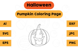 Halloween Coloring Page - Pumpkin 15 Graphic Coloring Pages & Books Kids By isalsemarang