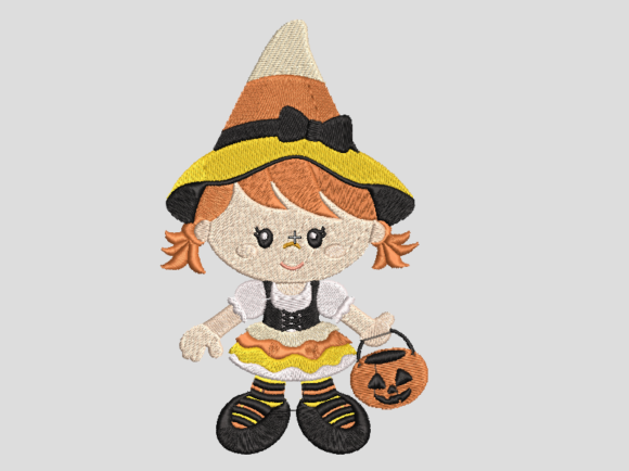 Halloween Girl Halloween Embroidery Design By Digital Creations Art Studio