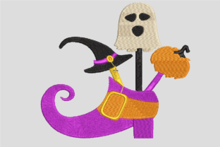 Print on Demand: Halloween Shoe Halloween Embroidery Design By embroidery dp