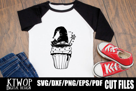 Print on Demand: Halloween Cupcake Witch Hat Graphic Crafts By KtwoP