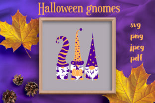 Hallween Gnomes Graphic Crafts By inkoly.art