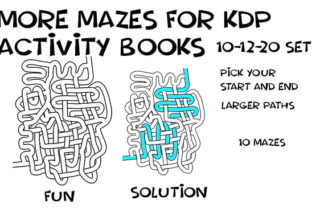 Print on Demand: Hand Drawn LRG Weave Mazes - 10-12-20 Gráfico Páginas KDP Por Kathryn Maloney