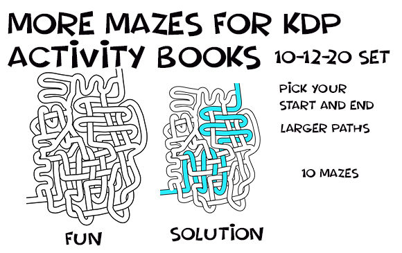 Print on Demand: Hand Drawn LRG Weave Mazes - 10-12-20 Graphic KDP Interiors By Kathryn Maloney