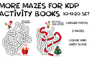 Print on Demand: Hand Drawn XMAS Weave Mazes - 10-11-20 Graphic KDP Interiors By Kathryn Maloney