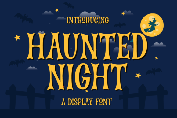 Print on Demand: Haunted Night Display Font By Suby Store