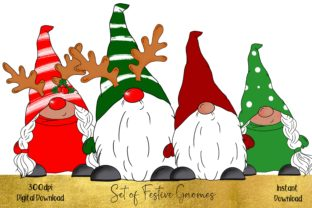Huge Bundle of Christmas Gnomes Graphic Illustrations By STBB