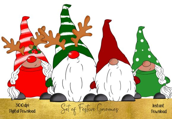 Huge Bundle of Christmas Gnomes Grafik Illustrations von STBB