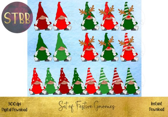 Huge Bundle of Christmas Gnomes Graphic Download
