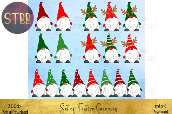 Huge Bundle of Christmas Gnomes Graphic Item