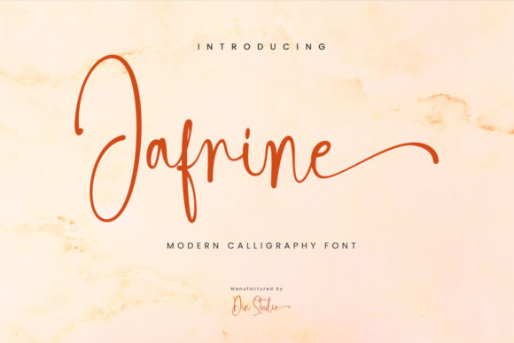 Print on Demand: Jafrine Script & Handwritten Font By Din Studio