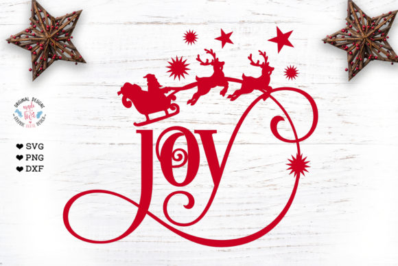 Joy Cut File and Clipart - Christmas Svg Graphic Crafts By GraphicHouseDesign