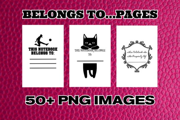 KDP Belongs to...Png Files Graphic Graphic Templates By .99 Cent Digital Products