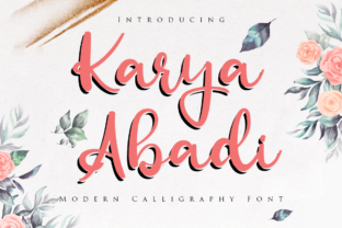 Print on Demand: Karya Abadi Script & Handwritten Font By agniardii