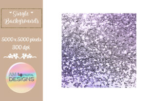 Lilac Purple Gradient Chunky Glitter Graphic Backgrounds By AM Digital Designs