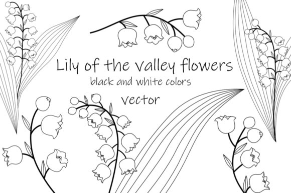 Lilies of the Valley Flowers Graphics Graphic Illustrations By shishkovaiv