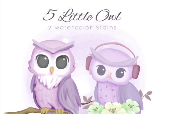 Little Owl Clipart Graphic Illustrations By alolieli