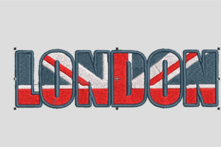 London Logo Europe Embroidery Design By Digital Creations Art Studio