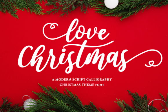 Print on Demand: Love Christmas Script & Handwritten Fuente Por Girinesia