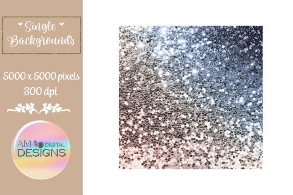 Masculine Gradient Chunky Glitter Graphic Backgrounds By AM Digital Designs